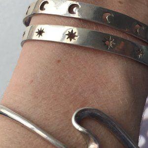 4 sterling silver cuffs S-M